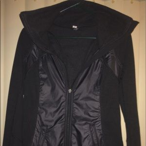 Lululemon Pedal Power Black Fleece Lined Jacket